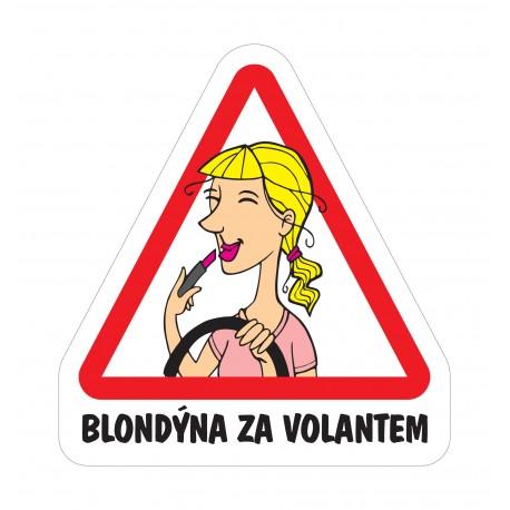 Magnet Blondýna za volantem