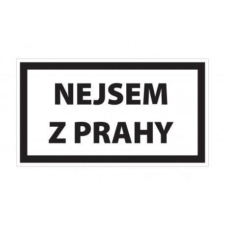 Samolepka Nejsem z Prahy