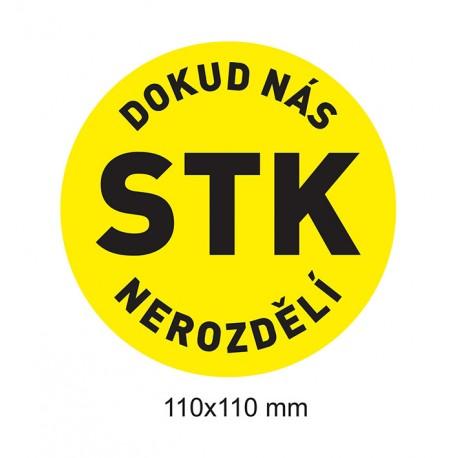 Samolepka Dokud nás STK nerozdělí (žlutá)