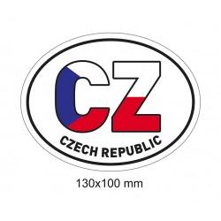 Magnet CZ v barvě vlajky