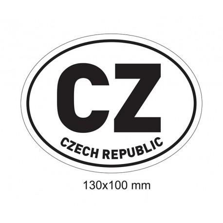 Samolepka CZ (černá)