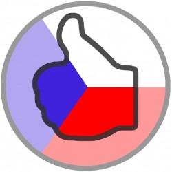 Samolepka Vlajka s palcem nahoru