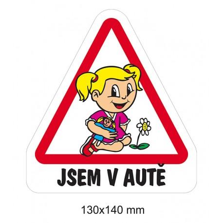 Magnet Dítě v autě - Holka předškolačka