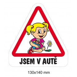Samolepka Dítě v autě - Holka předškolačka