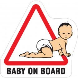 Samolepka Dítě v autě - Baby on board