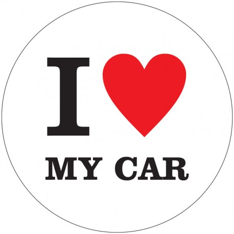 "Magnet ""I love my car"""