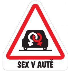 Magnet sex v autě-značky