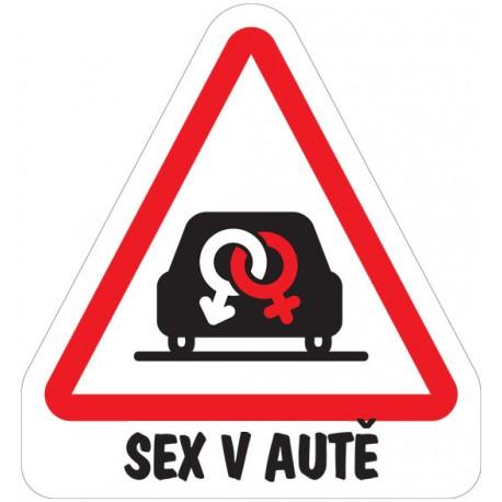 Samolepka sex v autě-značky