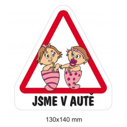 Magnet Dítě v autě - Holčičky miminka