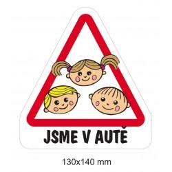 Magnet Dítě v autě - Trojčátka