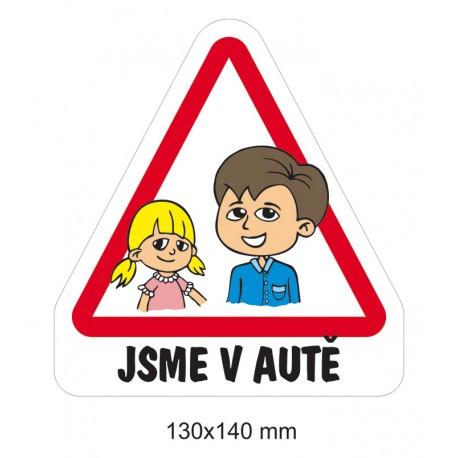 Samolepka Dítě v autě - sourozenci 2