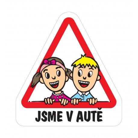 Magnet Dítě v autě - sourozenci 3