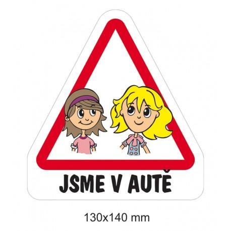 Magnet Dítě v autě - Sestry předškolačky