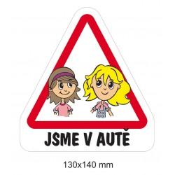 Samolepka Dítě v autě - Sestry předškolačky
