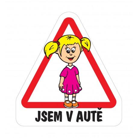 Dítě v autě - Holka školačka