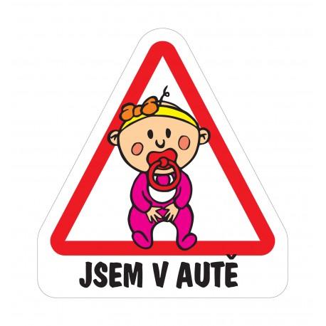 Samolepka Dítě v autě - Holka miminko