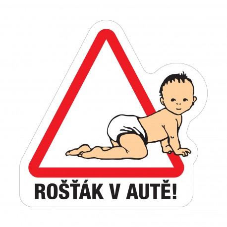 Samolepka Dítě v autě - Rošťák v autě