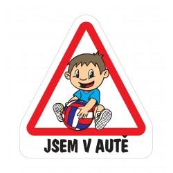 Magnet Dítě v autě - Kluk předškolák