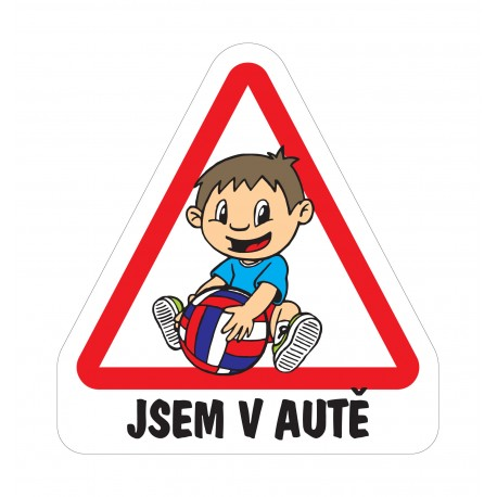 Samolepka Dítě v autě - Kluk předškolák
